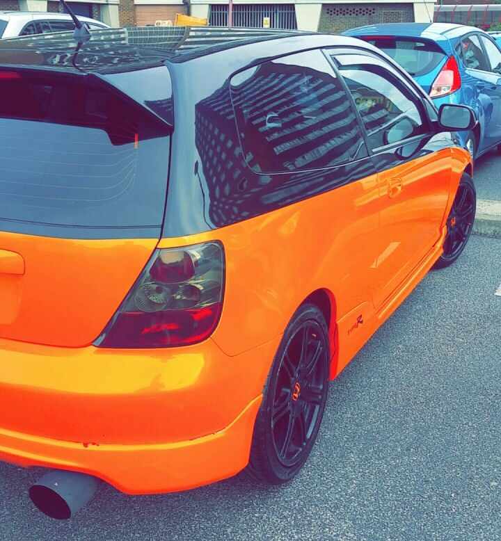 Honda Civic EP3 Type R Black/Orange