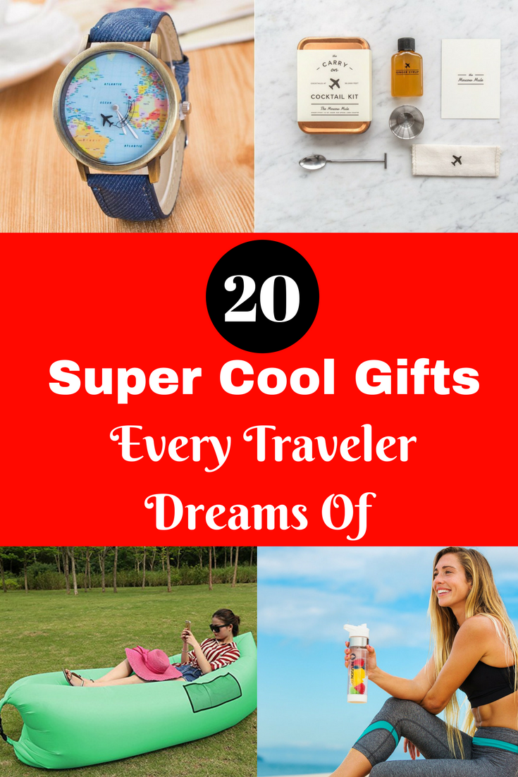 Whether your fellow world wanderers travel frequently for work or for pleasure, these presents will make their trips a little easier and their memories a bit brighter. #travel #gifts #travelgifts #travelergifts #giftfortraveler