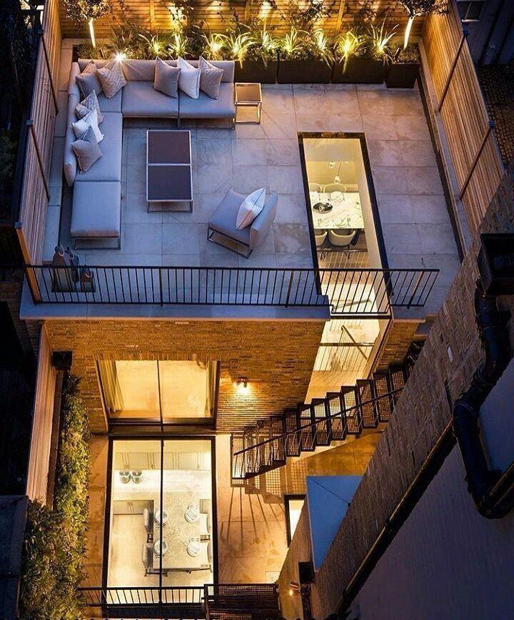 Terraza Urbana Casa Bebenis Casas Arquitectura Casas Y