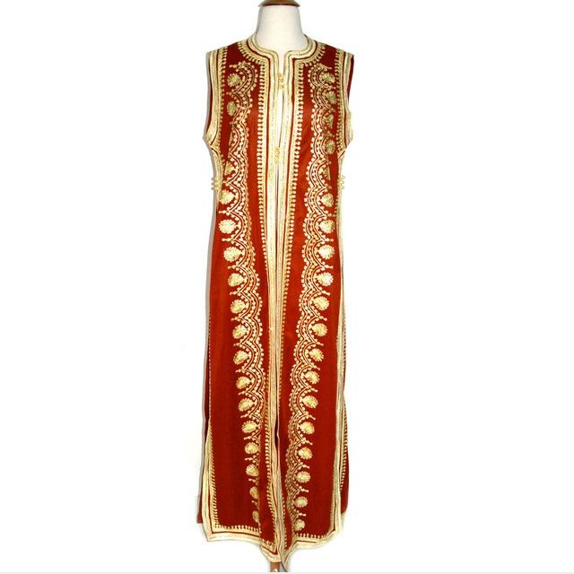 Gorgeous gold trimmed caftan