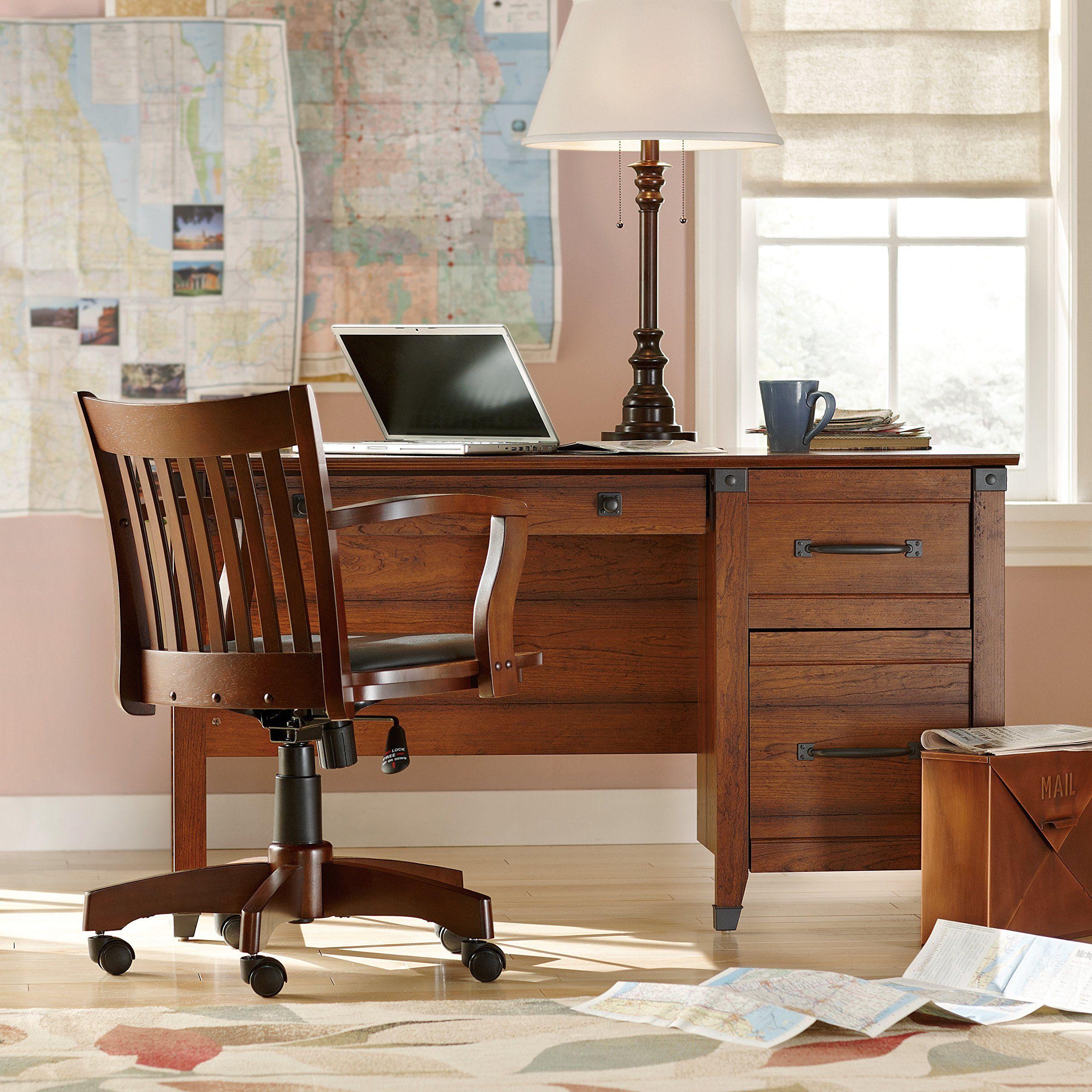Premium Three Drawer Desk   Elegant Stylish Modern Contemporary Home Office  Furniture Storage Free EBook