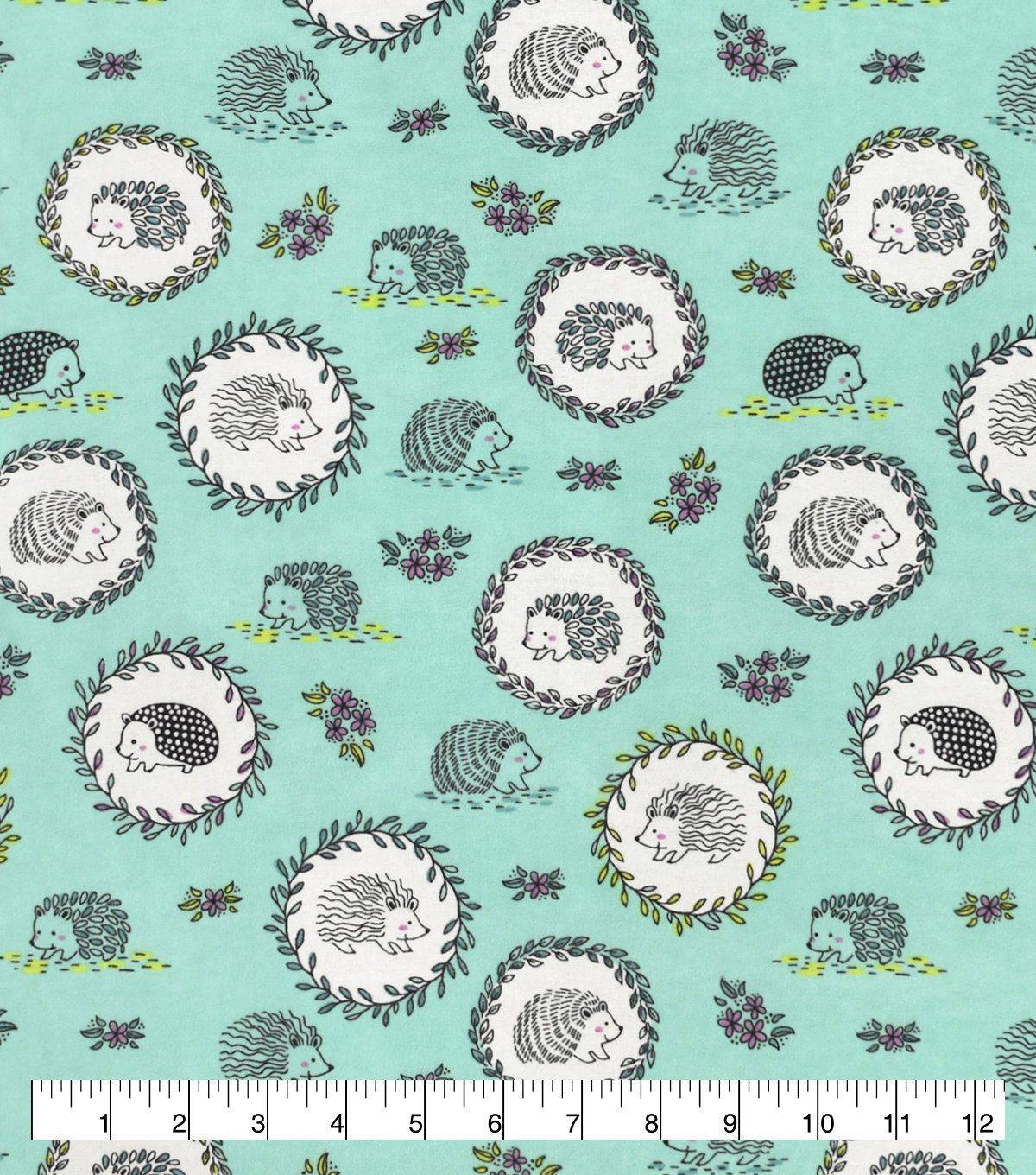 Laurel Hedgehogs Fabric By The Yard 100 Cotton Flannel Fabric Only Additional Length Options Available In 2020 Flannel Fabric Cotton Flannel Fabric