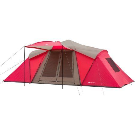 Ozark Trail Wmt211084oz 21 X 10 3room Instant Tent With Awning Sleeps 12 Red Color Be Sure To Check Out This Awesome Pr Instant Tent Family Tent Camping Tent