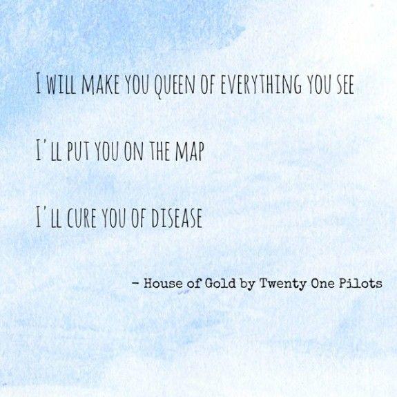 Twenty One Pilots House Of Gold Lyrics Google Search