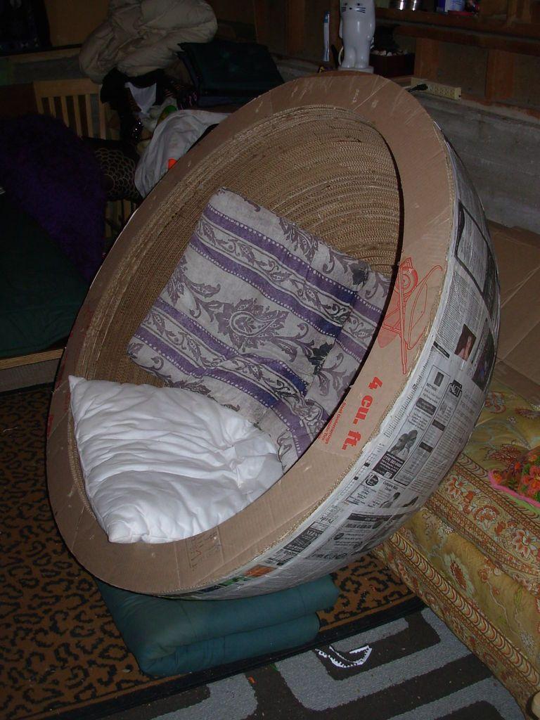 Cardboard Ball Chair Pop Surrealism Cardboard Furniture Diy