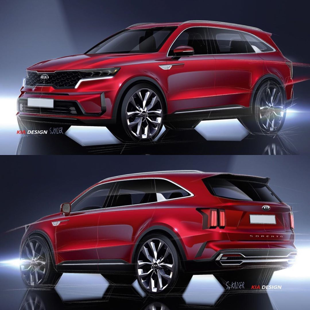 "Car Design Sketch on Instagram ""2020 KIA Sorento official"