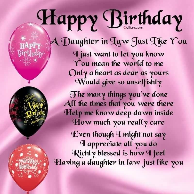 Best quotes birthday wishes for daughter in law greetings