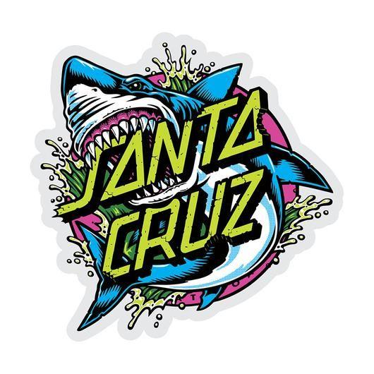 SANTA CRUZ SKATEBOARDS STICKER Santa Cruz Shark Dot 3 in Sticker
