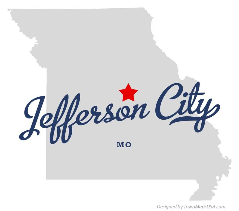 MISSOURI JEFFERSON CITY | Map of Jefferson City Missouri MO | U.S. ...