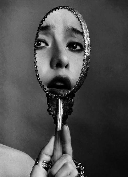 Nude self portrait mirror