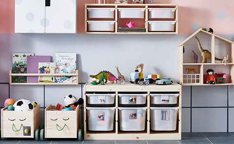 IKEA TROFAST Toy Storage Ikea Kids Room, Kid Playroom, Toy Storage, Kids  Storage