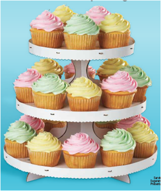 Cupcake Stand 3 Tier White Caja De Postre Soporte Para Cupcake Cupcakes