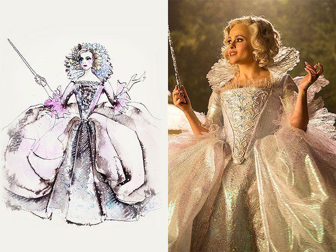 Cinderella Costume Design Photos & Sketches: Lily James