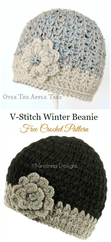 DIY Crochet Beanie Hat Free Patterns Baby Winter Hat #beaniehats