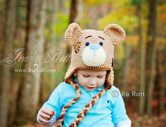 4d661215ae7 Handmade Crochet Classic Teddy Bear Hat for boys
