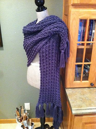 Free Pattern: Simple Rib Stitch Prayer Shawl by Louis Chicquette ...
