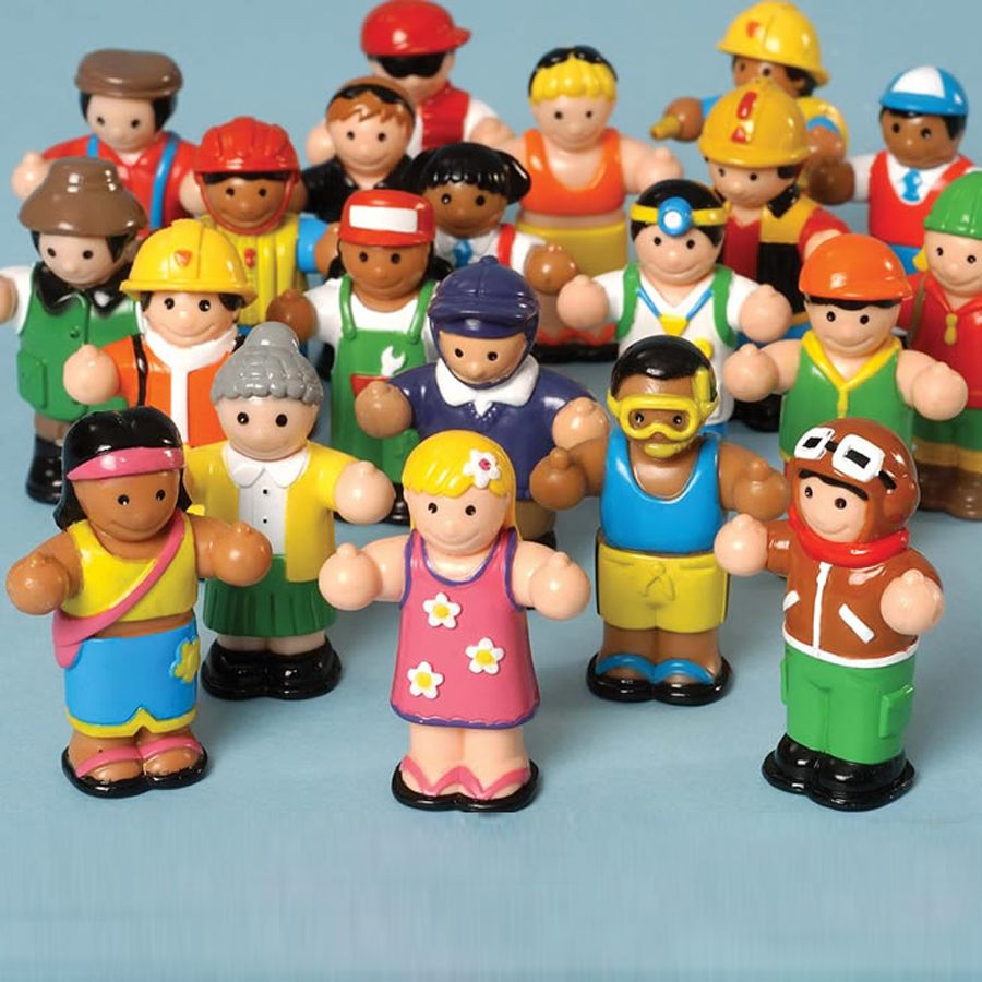 Plastic Colourful Small World Play Figures 22pcs Small