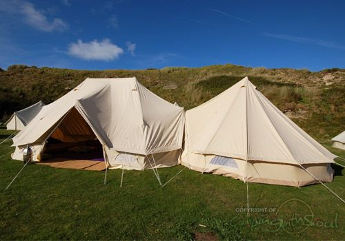 6 metre Standard Emperor Bell Tent joined to a 5m tent & 6 metre Standard Emperor Bell Tent joined to a 5m tent | tents ...