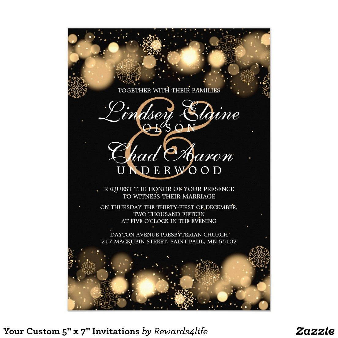 New Years Eve Wedding Invitations