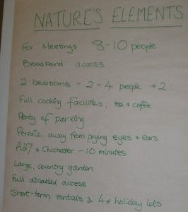 Reasons why Nature's Elements may be perfect for your small conference / business meeting / interviewing location for visiting Executives!