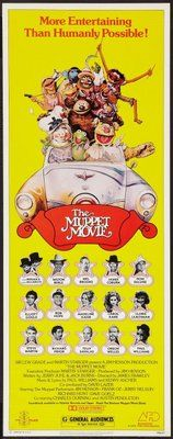 KERMIT the frog in THE MUPPET MOVIE 1979 movie poster 24X36 KIDS adventure