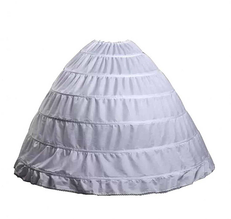 BLACK 4-HOOP BRIDAL WEDDING GOWN DRESS HALLOWEEN COSTUME PETTICOAT SKIRT SLIP