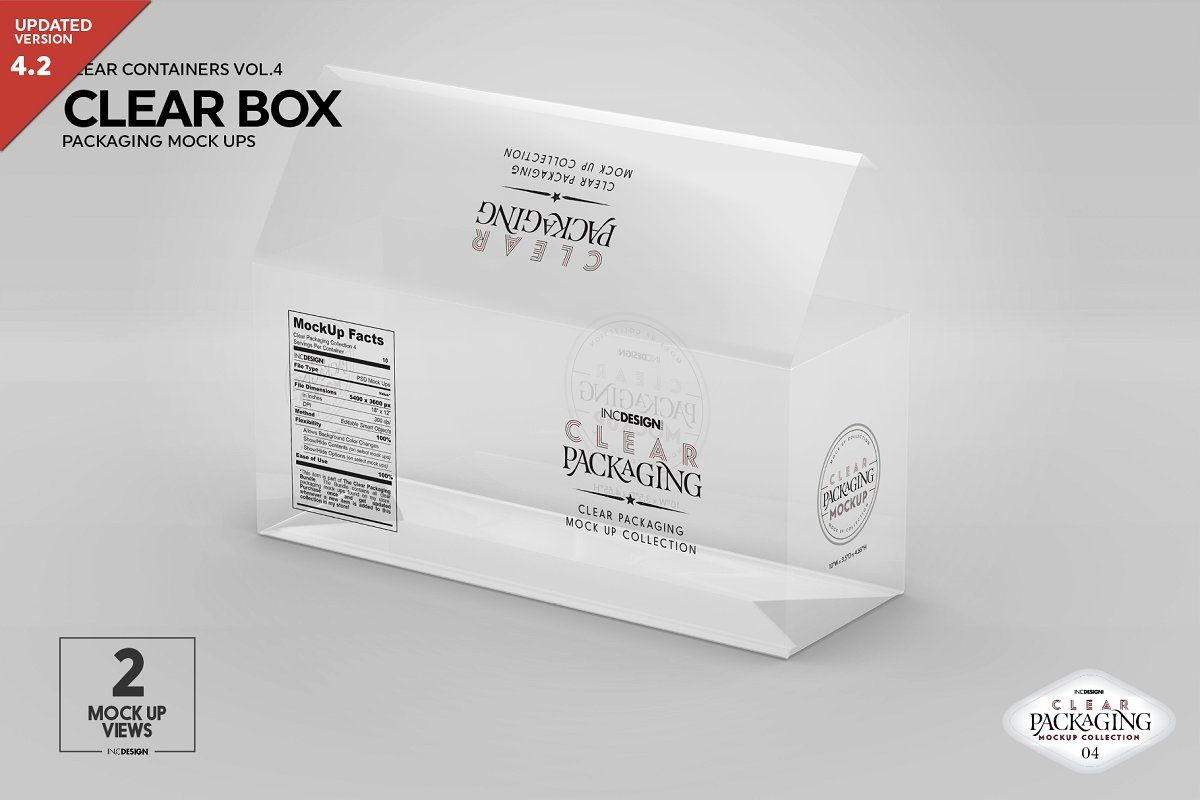 Clear Box Packaging Mockup Packaging Mockup Clear Container Branding Template