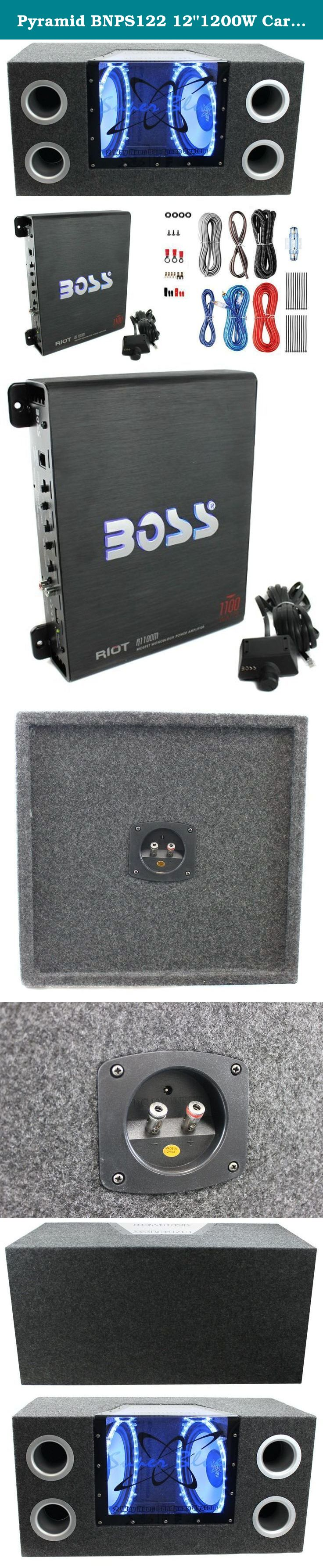 Pyramid Bnps122 121200w Car Audio Subwoofer Box 1100w Mono Amp Wiring Kits For Cars Kit This Package Includes 1 X 1200 Watt Loaded Enclosure