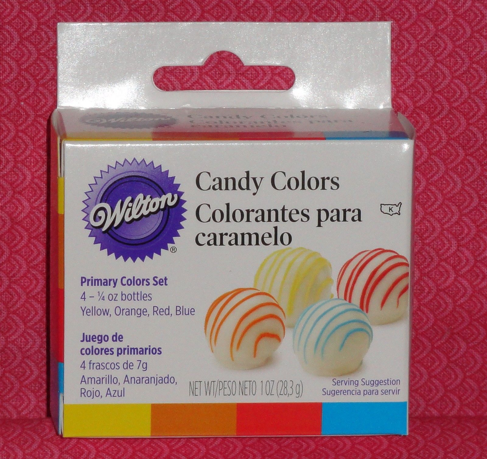 Candy Colors Primary, 4 Set, Wilton, Oil Based,.25Oz,1913-1299 ...