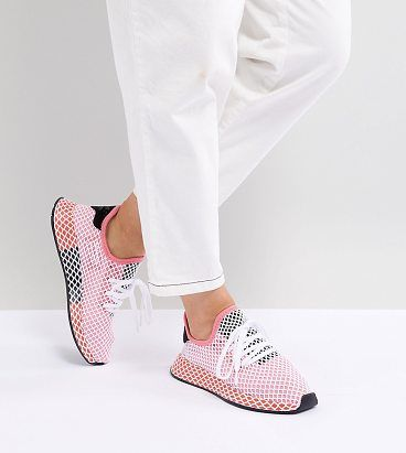 on sale 5f22e 4660e Deerupt Runner Sneakers In Pink And Red by Adidas Originals. Sneakers by  adidas, Box