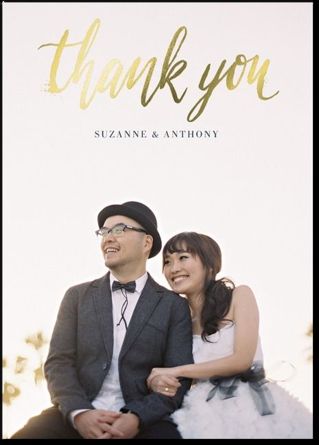 Great Positioning Of Photo On This Thank You Card By Lady Jae Via Wedding Paper Divas