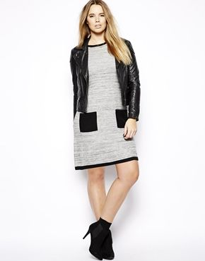 Image 4 of ASOS CURVE Exclusive Knitted Swing Dress With Pockets