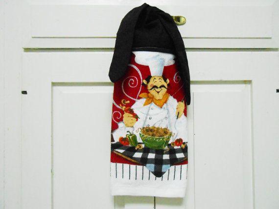 Chef Towel, Kitchen Hand Towel, Hanging Hand Towel, Tie On Towel, Towel  With Ties, Hand Towel, Dish Towel, Tea Towel, Handmade