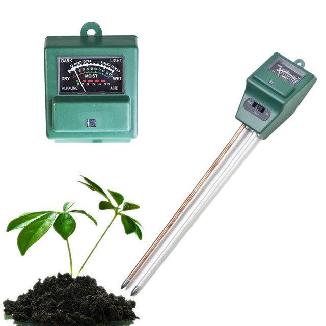 3in1 PH Tester Soil Moisture Light Tester Meter for Garden Plants Flower Growth