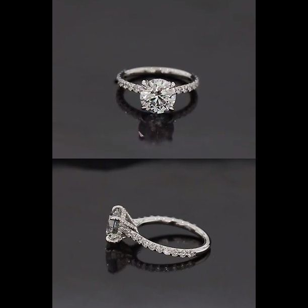 Scottsdale's Joseph Schubach Jewelers and one their custom design engagement rings. #pave #diamonds #delicate details