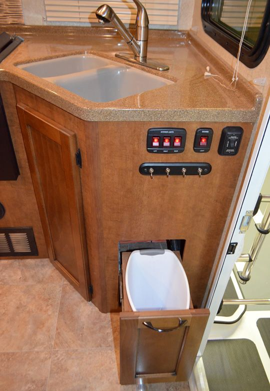 Creative Trash Can Solutions For Small Kitchen   Google Search