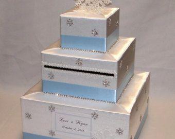 White and Black Winter-Snowflake theme by ExoticWeddingBoxes