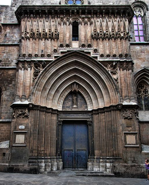 Barcelona - Portal de Sant Iu  Catedral