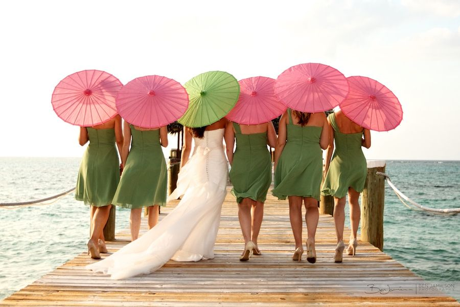 Not these colors, but I like the idea of doing some parasol photos with the girls.