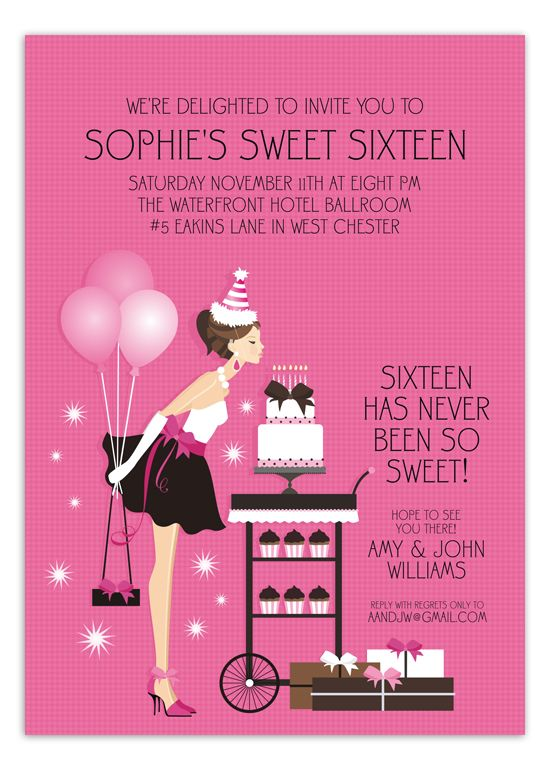Sweet 16 birthday blowout invitation sweet 16 party pinterest sweet 16 birthday blowout invitation stopboris Images