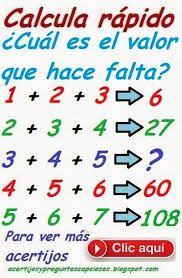 Resultado De Imagen De Acertijos Matematicos Resueltos Juegos