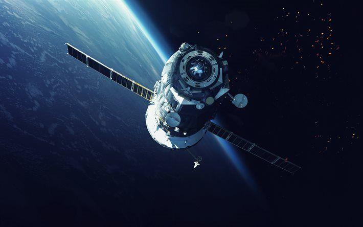 Telecharger Fonds D Ecran L Espace Des Satellites La Terre L Espace La Nasa Besthqwallpapers Com Fond Ecran Nasa Ecran