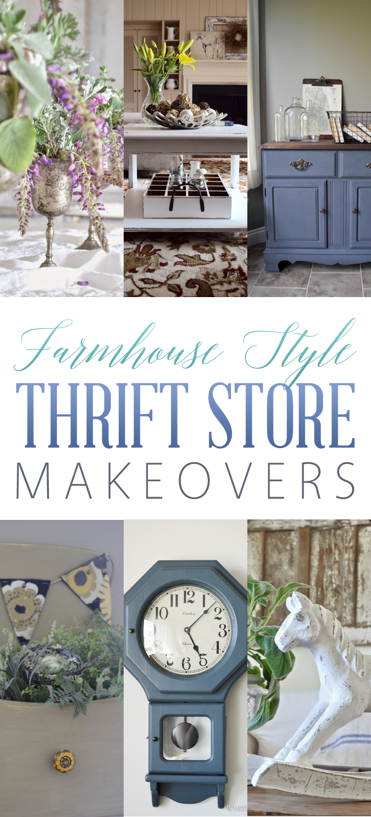 Farmhouse Style Thrift Store Makeovers
