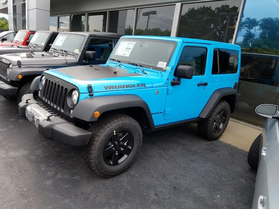 Make Your Summer Complete Drive This Electric Blue Jeep Off The