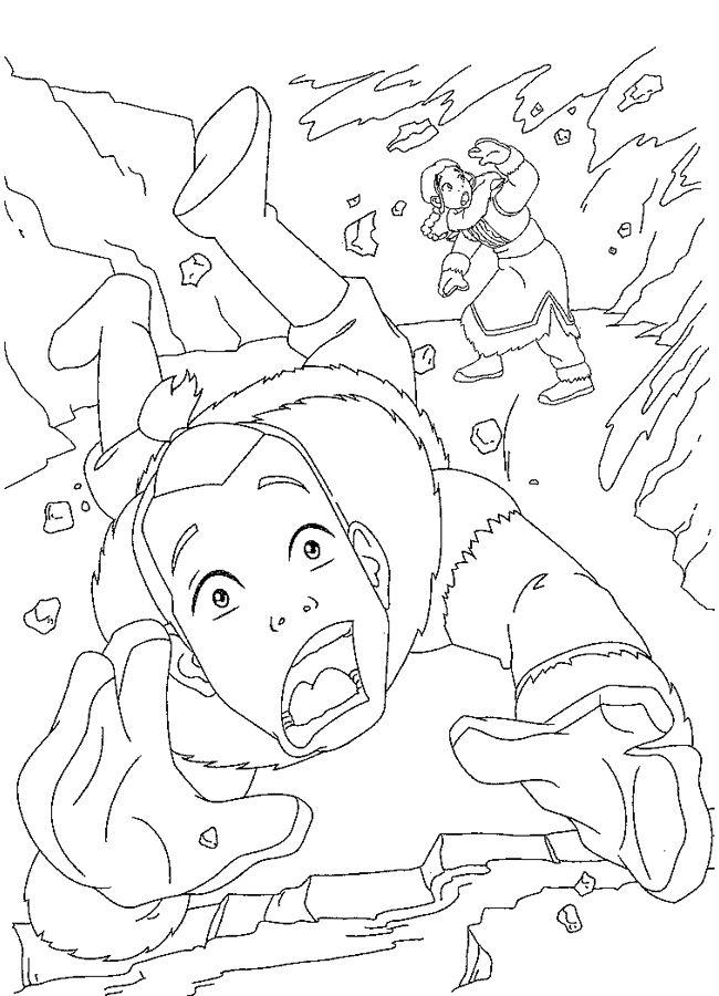 Avatar Tegninger til Farvelægning. Printbare Farvelægning for børn ...