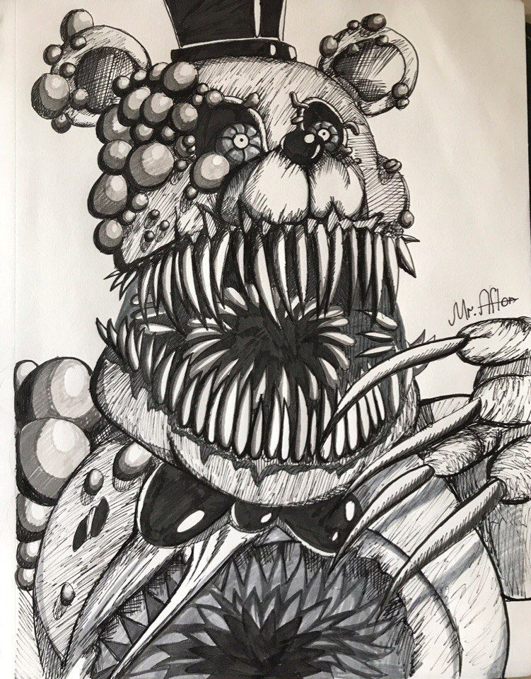 How To Draw Twisted Freddy On Art For Kids