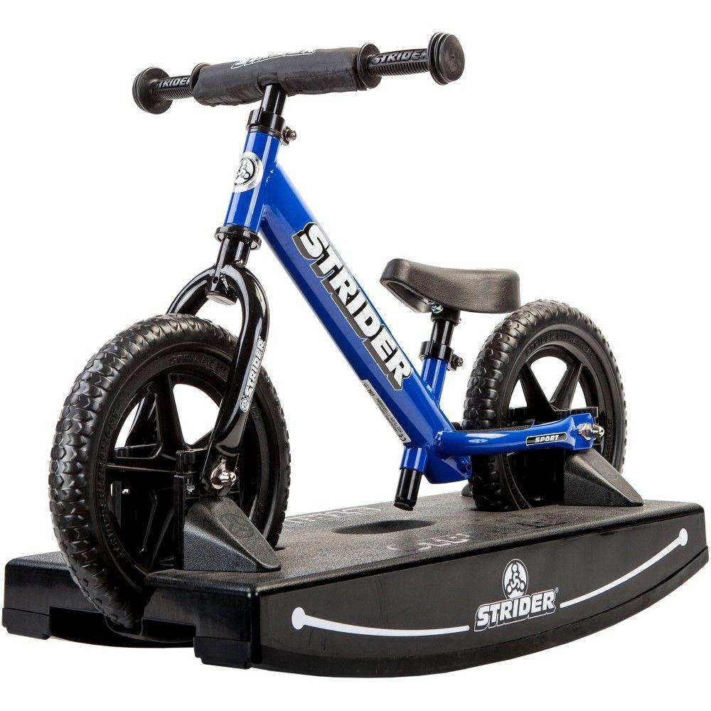 Strider 12 Sport Baby Bundle No Pedal Balance Bike Blue