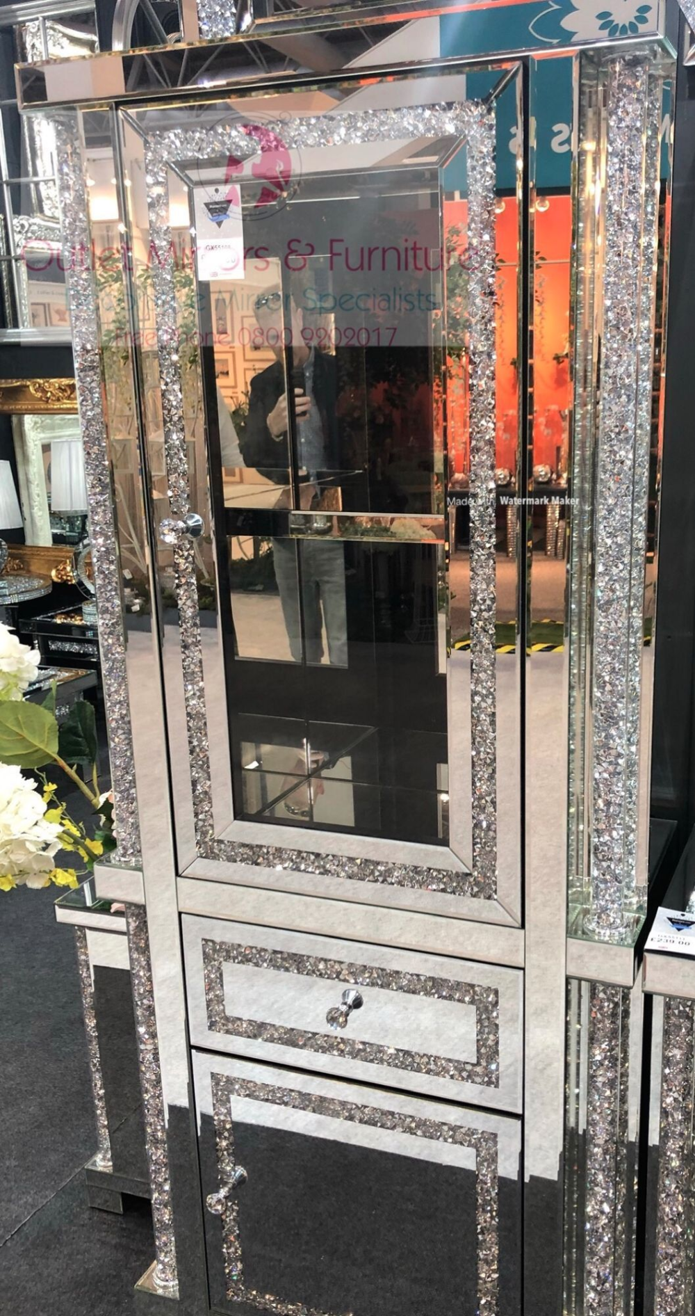 "Glamorous Mirror Crushed Diamante Glass Mirrored Photo Frame 4/"" x 6/"" Gift"