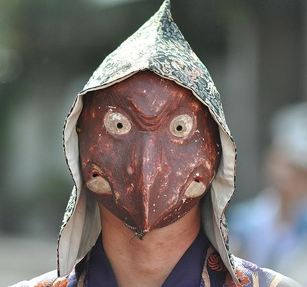 Japanese Tengu Mask | Japanese Mask Festival - Menkake Gyoretsu