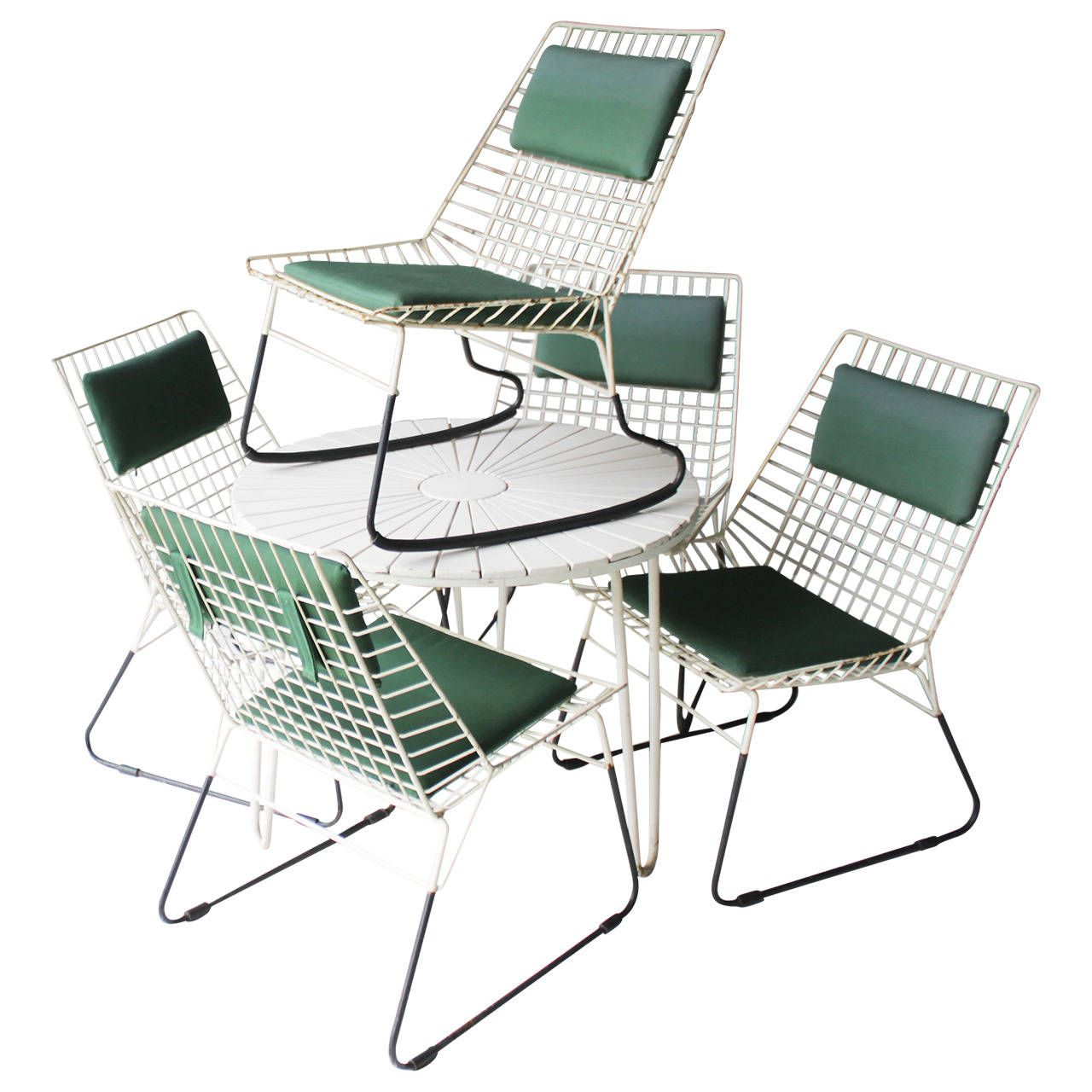 Set of Five Flamingo Chairs by Cees Braakman for Pastoe | From a unique collection of antique and modern chairs at https://www.1stdibs.com/furniture/seating/chairs/